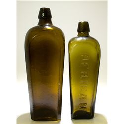 """2 Dutch """"African"""" Gin Bottles"""