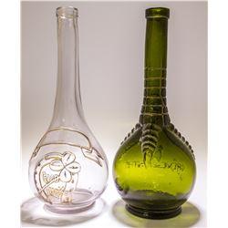 2 Figural Liquor Bottles
