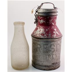 Milk Can and Milk Bottle