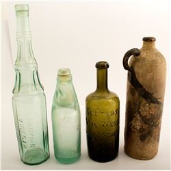 4 Assorted Foreign Bottles