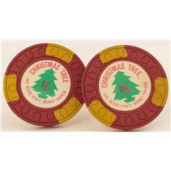 Christmas Tree Fancy Gaming Chips (Reno, Nevada)