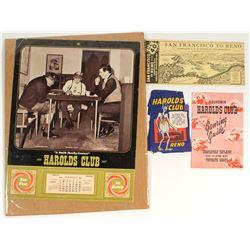 Harolds Club 1967 Calendar & Other Ephemera
