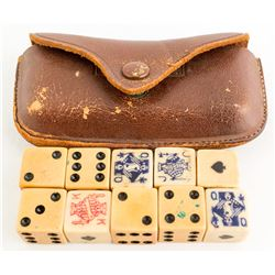 Dice Game in Leather Pouch