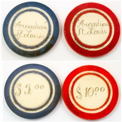 Two Arcadian, St. Louis Gaming Chips