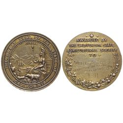 CA State Agricultural Society Medal, 1911