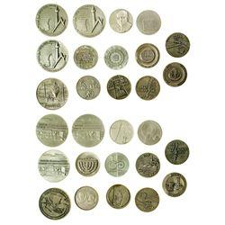Sterling Silver Israeli Medals (14)