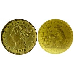 1849 California Gold Rush Gaming Token