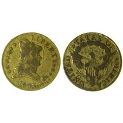 Gaming Token in the manner of a $5 Gold Piece