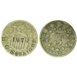 Counterstamped Shield Nickel