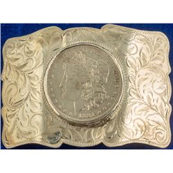 1881 Morgan O Silver Dollar Belt Buckle