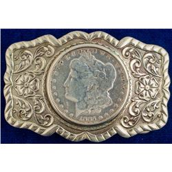 1885 Morgan Dollar Nickel Silver Belt Buckle