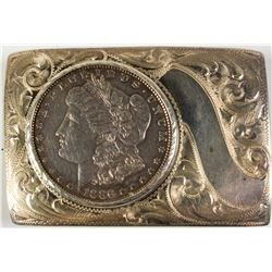 1886 Morgan Dollar Belt Buckle