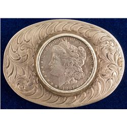 1887 Morgan Dollar Belt Buckle