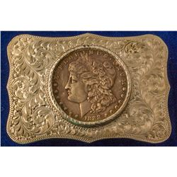1888 Morgan Silver Dollar Western Belt Buckle