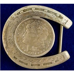 1921 Morgan Dollar Horseshoe Belt Buckle
