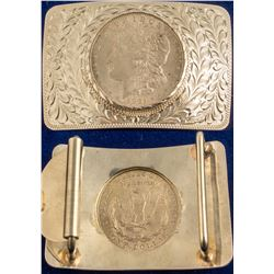1921 Morgan Silver Dollar Belt Buckle