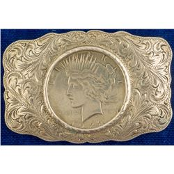 1922 Peace Dollar Sterling Belt Buckle