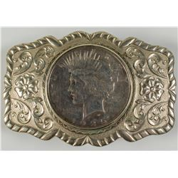 1925 Peace Dollar Sterling Belt Buckle