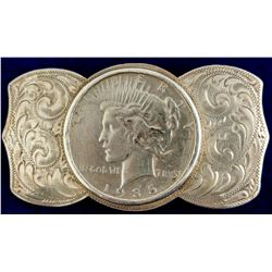 1935-S Peace Dollar Sterling Belt Buckle