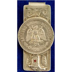 Mexican Coin Silver Sterling Money Clip