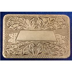 Empty Scrolled Sterling Silver Belt Buckle