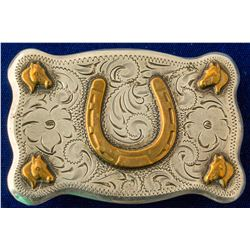 Gold Horseshoe Belt Buckle