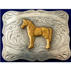 Gold Stallion Western Belt Buckle