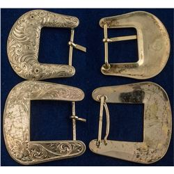 Lot of 2 Western Belt Buckles