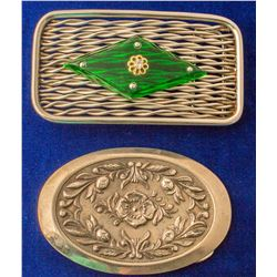 Lot of 2 Western Motif Belt Buckles
