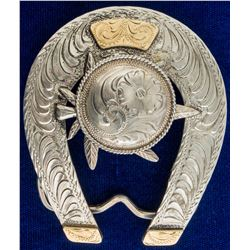 Marijuana Leaf Sterling Belt Buckle