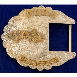 PCHA Champion Engraved Western Belt Buckle