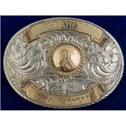 """Leader Roy Hackett"" Sterling Belt Buckle"