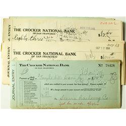Sierra Railway Co. Checks