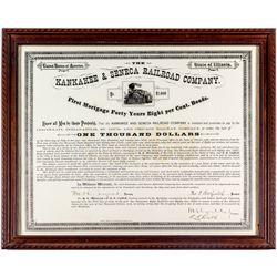Kankakee & Seneca Railroad Company Bond