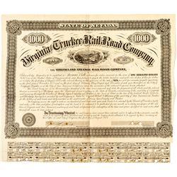 Virginia & Truckee Railroad Bond