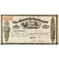 John Butterfield signed Railroad Stock Certificate