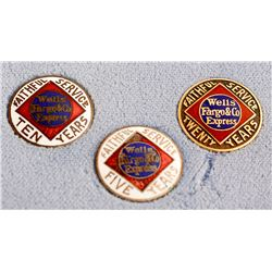 Three Wells Fargo Pins
