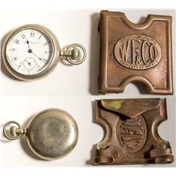 Wells Fargo Pocket Watch and Belt Buckle