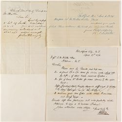 Three Blackfoot, Montana Letters (1874, 1875, 1876)