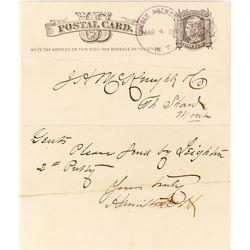 Old Agency Territorial Postmark