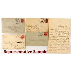 Four Austin, Nevada Covers with Letters
