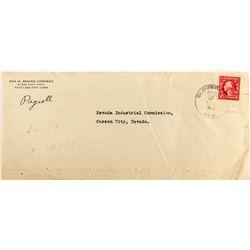 R-8 Clover City, Nevada Envelope with Corner Advertising