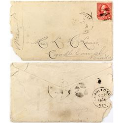 R-9 Cradlebaugh,Nevada used as a Received Cancel on Back of Cover