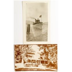 Unique View of Steamer on Lake Tahoe