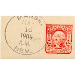 R-9 Manse, Nevada Postal History Piece