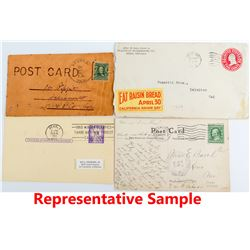 58 Reno and Sparks Pieces of Postal History.