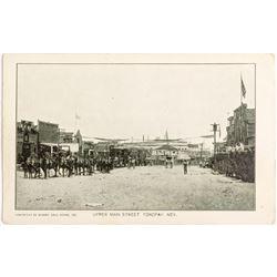 Postcard of Upper Main Street by Miner's Drug Store, Tonopah