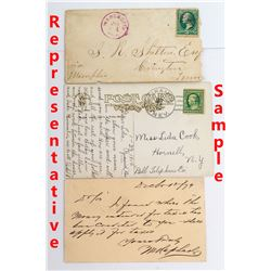 Eight Diverse and Covers from Washoe County, Nevada including an Interesting Letter