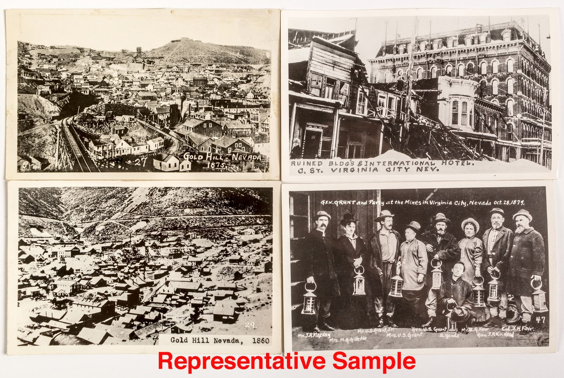 13 Nevada Reproduction Postcards and one Spectacular RPC