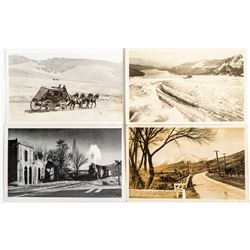 Four Nevada Country Scenes: Including a Stage Coach